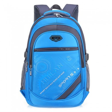 Grade 3-6 Students Nylon School Bag Large Casual Travel Backpack