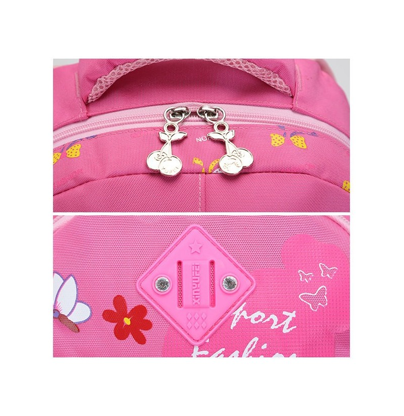 33e119fa0de7 Grade 3-6 Students Girls Boys Floral Lovely Print Waterproof Nylon Backpack  School Bag