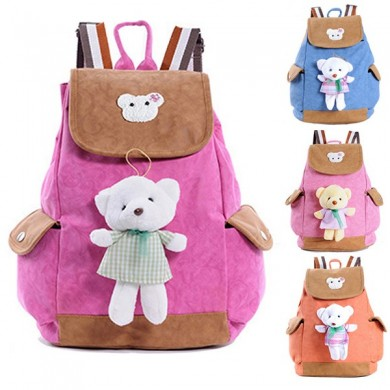 Grade 1-6 Students PU Leather School Bag Waterproof Large Cartoon Backpack