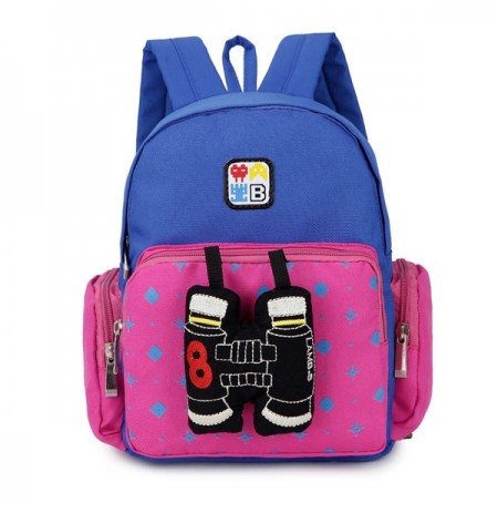 Kindergarten Children Lovely Cartoon Backpack Canvas School Outdoor Bag
