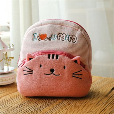 Kindergarten Light Weight Kids Cute Cartoon Animals Plush Backpack Soft School Bag
