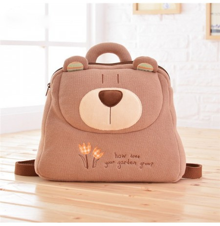 Kindergarten Lovely Cartoon Contrast Color Backpack Creative School Bag