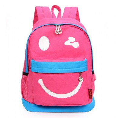 Children Smile Face Cartoon Casual Student School Bag Backpack
