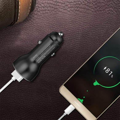 QK505 QC3.0/SCP 2.4A Dual USB Supercharge Car Charger