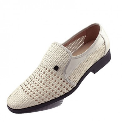 Мужчины Breathable Hollow Outs Slip On Кожа Business Shoes