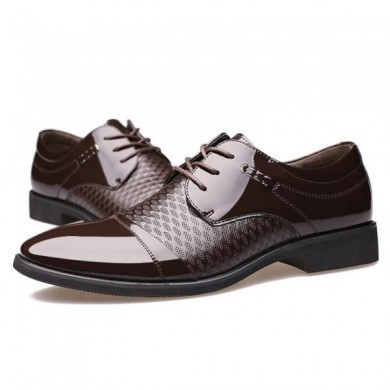 Männer Leder Formal Business Schnürsenkel Oxfords Schuhe