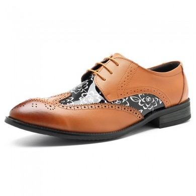 Men Brogue Style en cuir bout pointu affaires chaussures