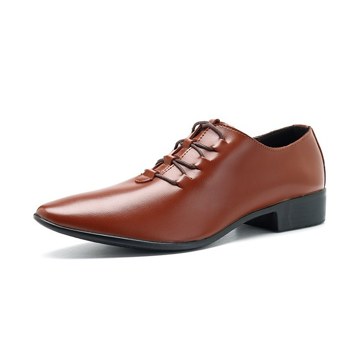 Homens Soft Couro Lace Up Business Formal Shoes