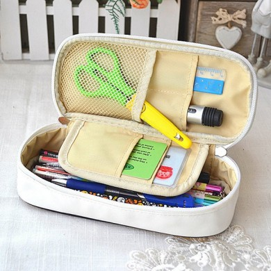 Multifunction PU Leather Large Capacity Pencil Case Cartoon Pen Storage Bag