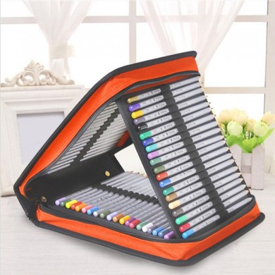 120 Holder Portable Large Capacity School Pencil Case Drawing Pen Bag