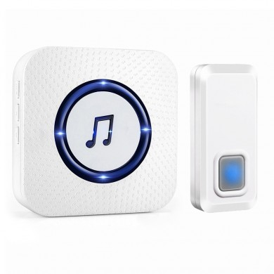 Wireless Chime Door Bell Waterproof 55 Ringtone 300M Range Alarm Doorbell IP55