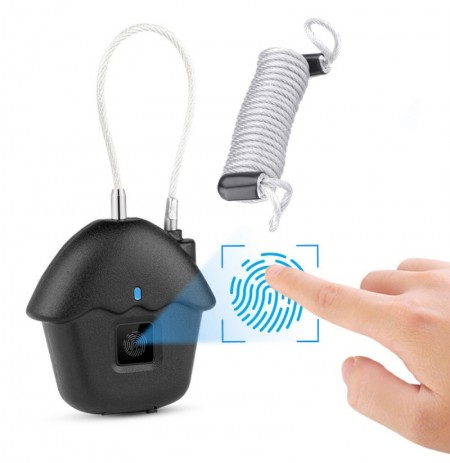 Waterproof Smart USB Charging Anti-Theft Keyless Door Lock Fingerprint Padlock