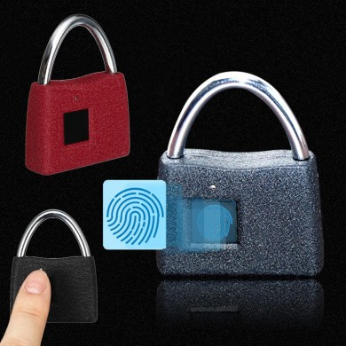 Portable Smart Keyless Luggage Door Lock Anti Theft Fingerprint Security Padlock