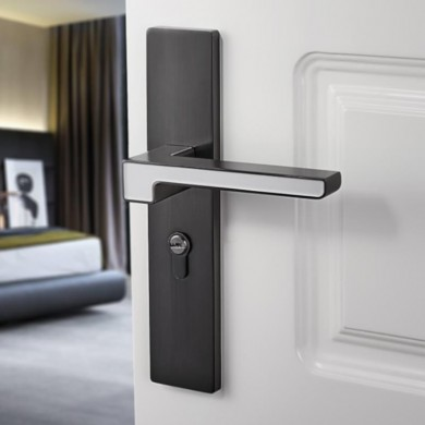 Interior Bedroom Modern Solid Wooden Room Universal Door Lock Luminous Mute