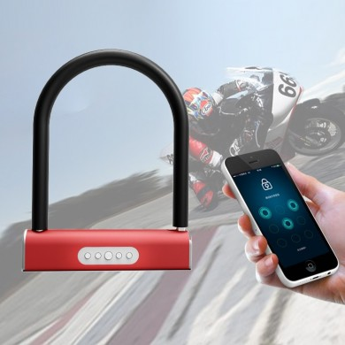Electric Smart Bike Lock Anti-theft U-shaped Password Security Lock