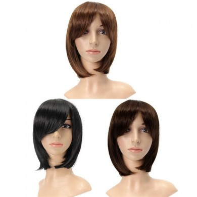3 Colors Kanekalon Fiber Wig Charming Fluffy Straight Natural Hair Full Wigs Party Cute Cosplay