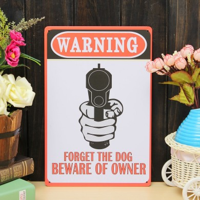 Warning Sheet Metal Drawing Metal Painting Tin Shop Pub Wall Tavern Poster Sign