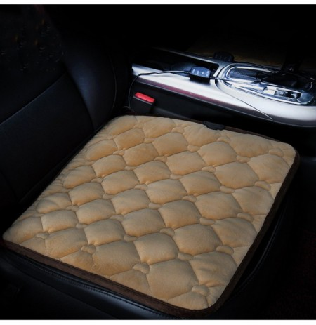 43*43cm Car Plush Heated Seat Cushion Seat Warmer Winter Household Cover Electric Heating Mat