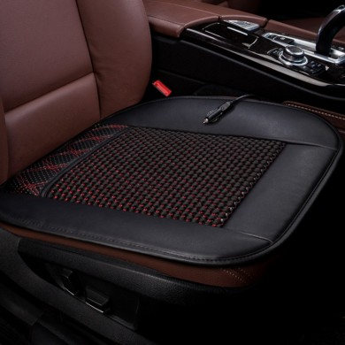 12V Cooling Car Seat Cushion Ventilate Breathable Air Flow Holes PU Leather + Mesh