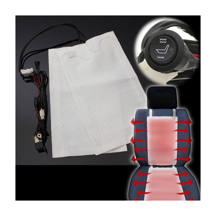 Auto Car Seat Heating Heater Pad Carbon Fiber Heated Universal 12V 2pcs One Seat