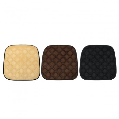 Polyester Fiber Car Front Seat Cushion Covers Breathable Chair Protector Seat Pad Mat