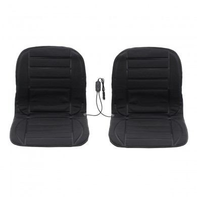 12V Double Polyester Car Front Seat Heated Cushion Seat Warmer Winter Household Cover Electric Mat