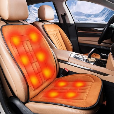 Fiber Car Warm Electric Heating Seat Cushion Winter Warmed Cover Pad 12V