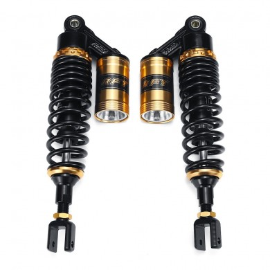 "Pair 15"" 380mm Motorcycle Rear Air Shock Absorber Suspension For Honda Yamaha"