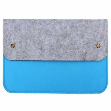 Multifunctional Wool Felt Sleeve Case Bag For Apple Macbook 12 Inch