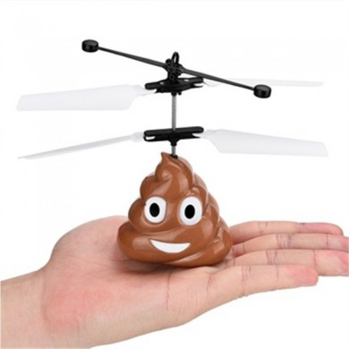 Funny Electronic Flying Ball Infrared Sensor Emoji Poop Helicopter Kids Toys Gifts