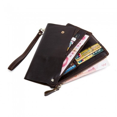 PU Leather Wallet Casual Business Multi-functional Bag