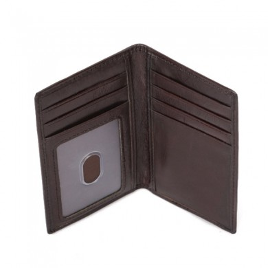 Men Genuine Leather RFID Oil Wax Multi-Card Slots Wallet