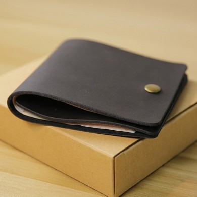 Men Genuine Leather Mini Thin Wallet