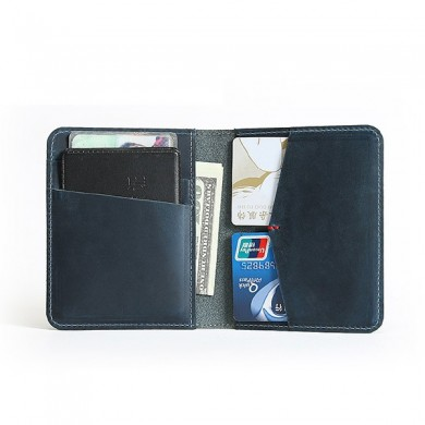 Men Genuine Leather Multi-function Driver's License Wallet