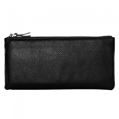 Men Genuine Leather Fashion Thin Wallet Phone Bag