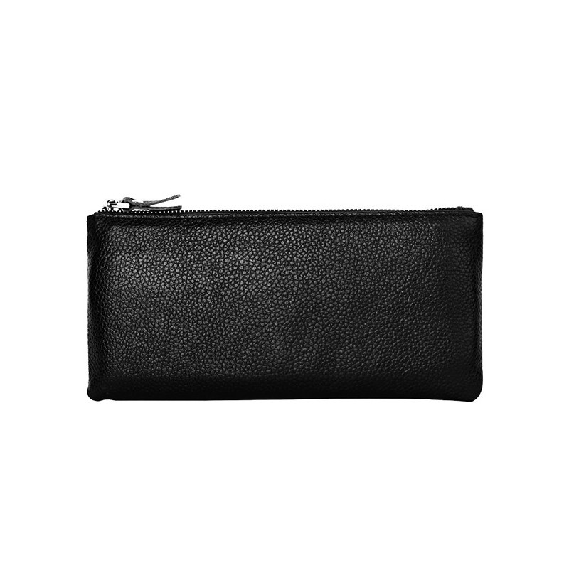 Men Genuine Leather Fashion Thin Wallet Phone Bag (Color: Red) фото