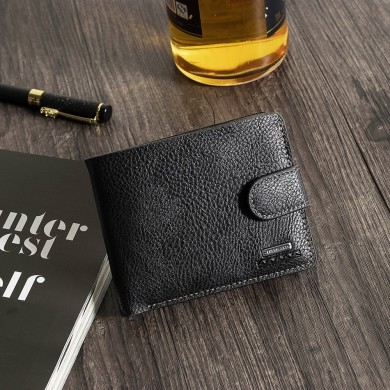 Men Leisure Casual Trifold 6 Card Slots Short Wallet Coin Ba