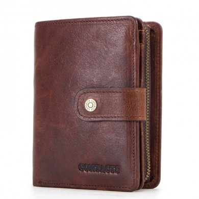 Men RFID Multifunctional Genuine Leather Multi-Slot Wallet