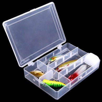 Removable Fishing Tool Bait Tackle Storage Box  Transparent Fishing Tackle Box