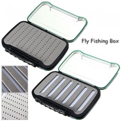Fly Fishing Tackle Boxen Micro geschlitzt Foam Transparent Wasserdicht