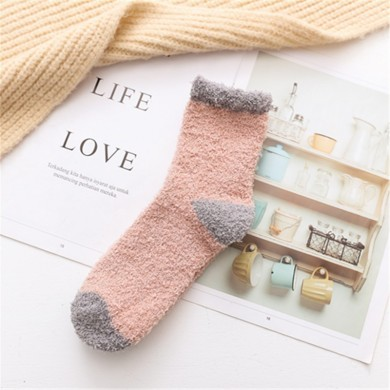 Thick Coral Fleece Floor Tube Sock Indoor Soft Tube Socks