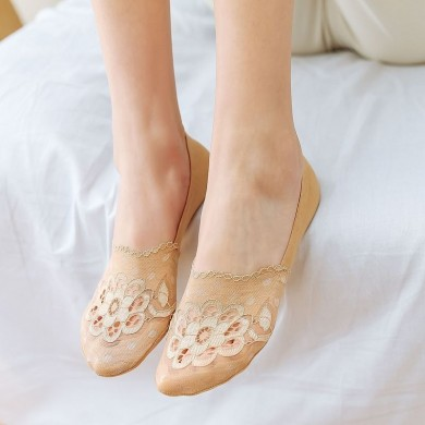 Women Summer Lace No Show Socks
