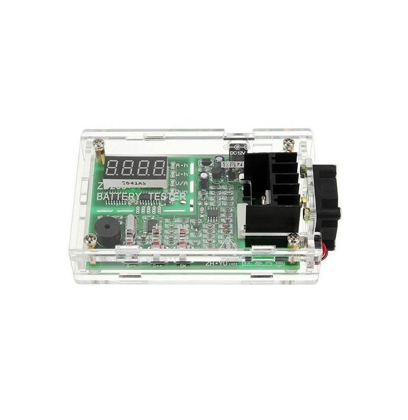 ZB206+V1.3 Tester for 18650 Battery Capacity And Internal Resistance Red