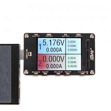 100MHZ T50N Dual USB Voltage Current Color Display Tester Power Capacity Meter QC2.0 QC3.0 PD FCP Test Tool