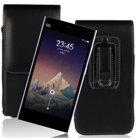 Universal Waist Hanged Up-down Leather Case Phone Bag For Smartphones Under 5 inch