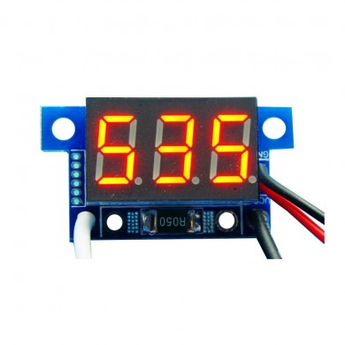 3pcs Red Light Mini 0.36 Inch DC Current Meter DC0-999mA 4-30V Digital Display With Reverse Connection Protection Ammeter