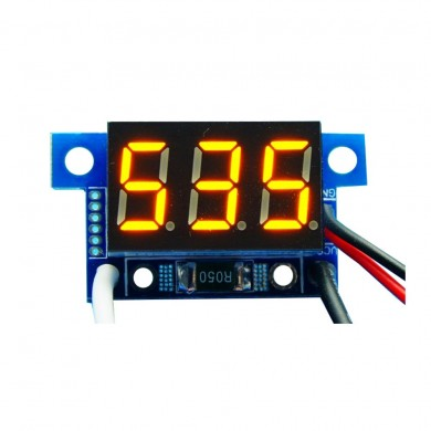 5pcs Yellow Light Mini 0.36 Inch DC Current Meter DC0-999mA 4-30V Digital Display With Reverse Connection Protection Ammeter