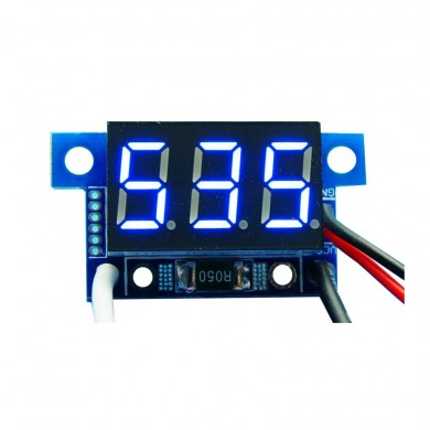 5pcs Blue Light Mini 0.36 Inch DC Current Meter DC0-999mA 4-30V Digital Display With Reverse Connection Protection Ammeter