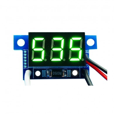 3pcs Green Light Mini 0.36 Inch DC Current Meter DC0-999mA 4-30V Digital Display With Reverse Connection Protection Ammeter