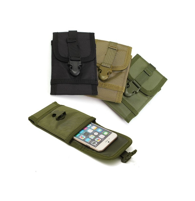 Multifunctional Portable Oxford Cloth Belts Pouch Waist Bag for Phone Under 5.7 inch (Color: Black) фото